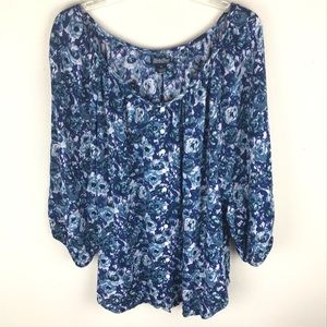 LUCKY BRAND Peasant style top size xl